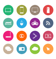 icons social network vector image vector image