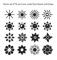 set of 16 sun icons vector image