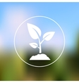 Sprout icon on blurred background vector image