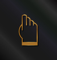 Gold touchscreen hand logo vector image vector image