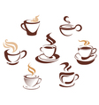 Coffee tes cups vector image
