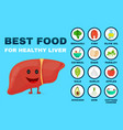 best food for strong liver strong healthy vector image