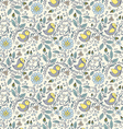 bird plant and flower on beige background vector image