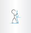 chemist man experiment icon vector image