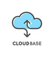cloud database logo isolated logotype of data vector image