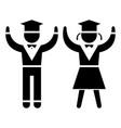 graduation - students - teaching people icon vector image