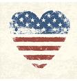 heart shaped american flag vector image