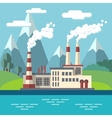 Industrial factory flat ecology concept vector image