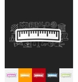 ruler paper sticker with hand drawn elements vector image