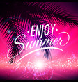 summer backround with palm leaves vector image