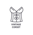 vintage corset line icon outline sign linear vector image