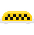 Yellow taxi sign vector image