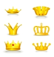 Crown set on white vector image