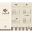 menu for seafood vector image