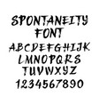 spontaneity alphabet uppercase character vector image vector image