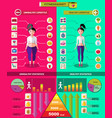 fitness and diet infographic concept vector image
