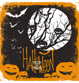 halloween card design vector image