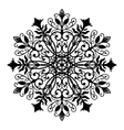Floral Forged Round Ornament vector image
