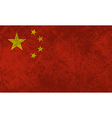 Chinese Flag Grunge vector image vector image
