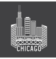 Chicago Illinois USA skyline design template vector image