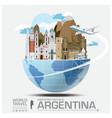 Argentina Landmark Global Travel And Journey vector image