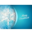 Blue xmas background with snowflakes EPS 10 vector image