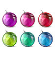 Christmas and New Year Ball Collection vector image