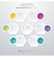 Colored hexagons with shadows vector image