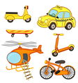 set of isolated transport vector image