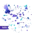 Watercolor paint splashes vector image