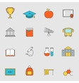 School education flat line icons vol 3 vector image