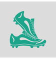 Pair soccer of boots icon vector image vector image