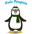 cute Christmas penguin vector image