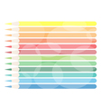 Colorful Colored Pencils Background vector image
