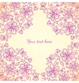 Pink doodle vintage flowers background vector image vector image