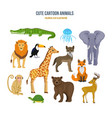 concept of - cute set cartoon animals vector image