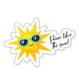 bright sun sticker vector image