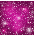 Seamless purple christmas pattern vector image