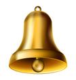 Golden bell vector image vector image