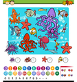 educational math game cartoon vector image vector image