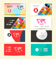 Flat Design Paper Business Card Template - Layout vector image vector image