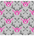 Hipster seamless pattern with deer and arrows vector image vector image