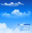 Clouds vector image vector image