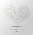 spring heart flat vector image vector image