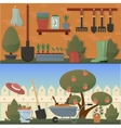 Garden and agricultural accessories or tools vector image