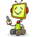 Cartoon robot or droid vector image