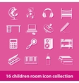 children room icons vector image