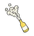 Comic cartoon beer bottle vector image