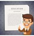 Education Grey Background with Teacher vector image