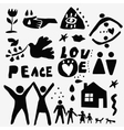 Family love icons vector image